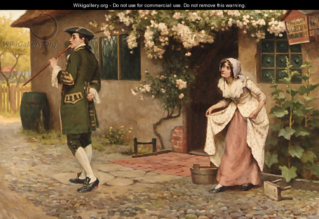 An encounter outside the cottage - A.C. (after) Cooke