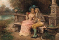 The flirting couple - Antonio Lonza