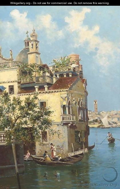 A Venetian house on the canal - Antonio Greppi