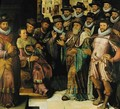 The Judgement of Cambyses an allegorical group portrait, probably of the City Councillors - Antoon Claeissens