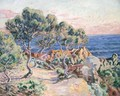 Les rochers a Agay - Armand Guillaumin