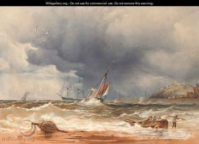 A sea piece - Anthony Vandyke Copley Fielding