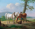 A farmhand with his horses - Anthony Oberman
