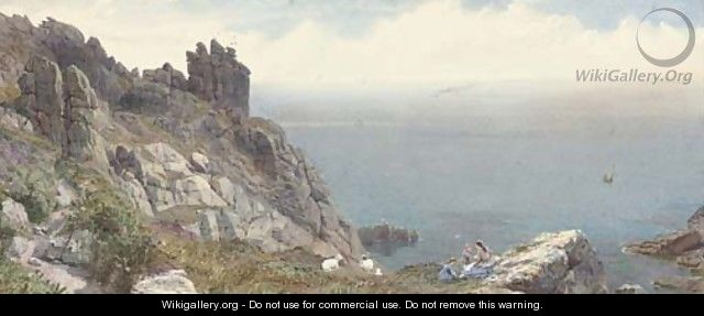 Sketch on the Cornish coast - Anthony Carey Stannus