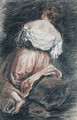 A seated woman seen from behind, after Bassano - Jean-Antoine Watteau