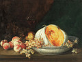 Still life of fruit in an interior - Antoine Vollon