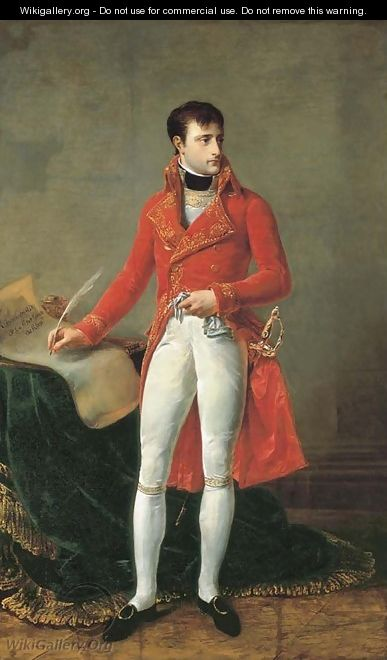 Portait of Napoleon Bonaparte, full-length, as First Consul - Antoine-Jean Gros