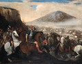 A Cavalry Battle - Aniello Falcone