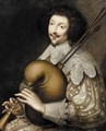 Portrait of a musician - Anglo-Dutch School