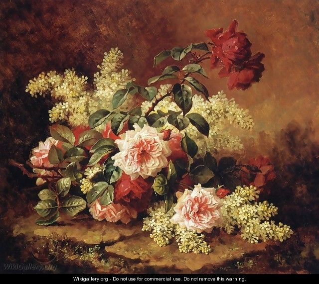 Roses and Mahogany - Paul De Longpre