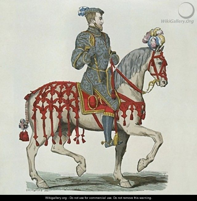 Henri II as Captain of the Houshold Cavalry - after Chevignard