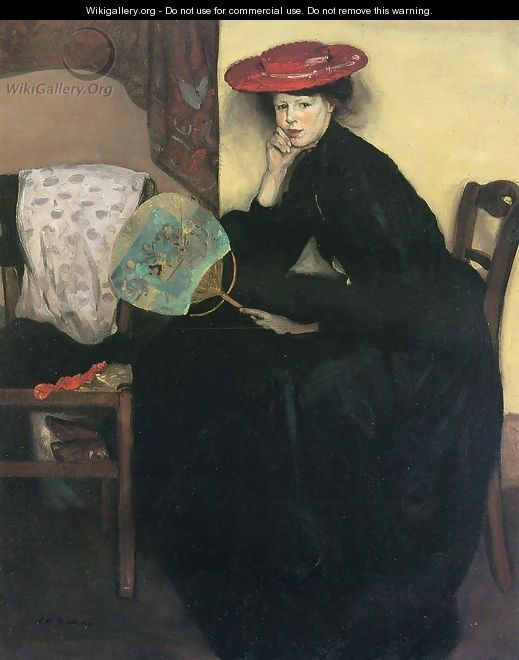 Model with a Japanese Fan Date unknown - Alfred Henry Maurer