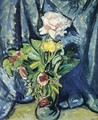 Flowers Against a Blue Drape 1926 - Alfred Henry Maurer