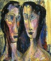 Two Heads with Yellow Background 1928-1929 - Alfred Henry Maurer