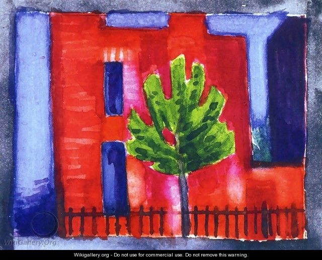 House and Tree Private Collection - Oscar Bluemner
