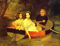 Self portrait with Baroness Ye N Meller Zakomelskaya and a Girl in a Boat Unfinished 1833 1835 - Julia Vajda