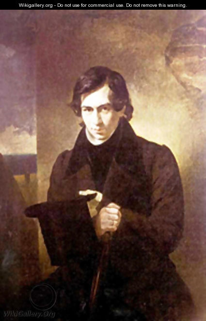 Portrait of the Poet and Playwrigh Nestor Kukolnic 1836 - Julia Vajda