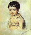 Portrait of Maria Kikina as a Child 1817 1820 - Julia Vajda