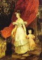 Portrait of Grand Duchess Elena Pavlovna and Her Daughter Maria 1830 - Julia Vajda