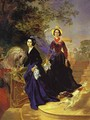 Portrait of the Shishmariov Sisters - Jules Elie Delauney