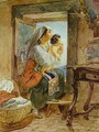 Italian Woman with a Child by a Window - Jules Elie Delauney