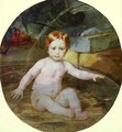 Child in a Swimming Pool Portrait of Prince A G Gagarin in Childhood - Jules Elie Delauney