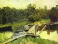 By the whirlpool Study 1892 - Isaak Ilyich Levitan
