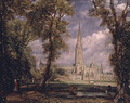 Salisbury Cathedral from the Bishop s Grounds 1825 - Rosa Bonheur