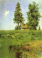 Small Hut in a Meadow Study - Isaak Ilyich Levitan