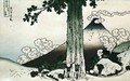 Measuring a Pine Tree at Mishima Pass in Ko Province - Katsushika Hokusai
