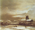 Winter landscape with two windmills - Jacob Van Ruisdael