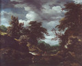 Hilly wooded landscape with cattle - Jacob Van Ruisdael