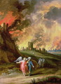 Lot and His Daughters Leaving Sodom - Laszlo Rozgonyi