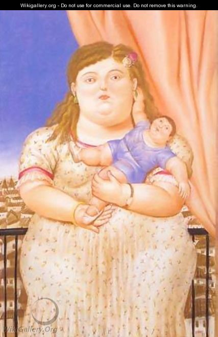 Mother And Son 1993 - Fernando Botero