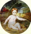 Child in a Swimming Pool Portrait of Prince A G Gagarin in Childhood 1829 - Julia Vajda