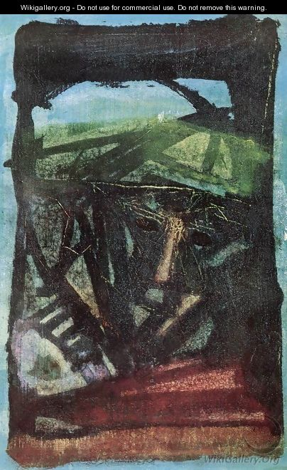Head in Green 1966 - Aurel Emod