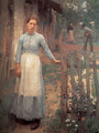 The Girl at the Gate 1889 - Sandor Nagy