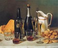 Still Life Cognac and Biscuits 1850 - John Francis