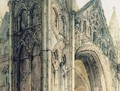 The West Front of Peterborough Cathedral 3 - Thomas Girtin