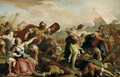 Battle of the Romans and the Sabines c 1700 - Sebastiano Ricci