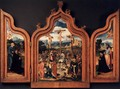 Triptych with the Crucifixion and Donors 1525 - Anonymous Artist
