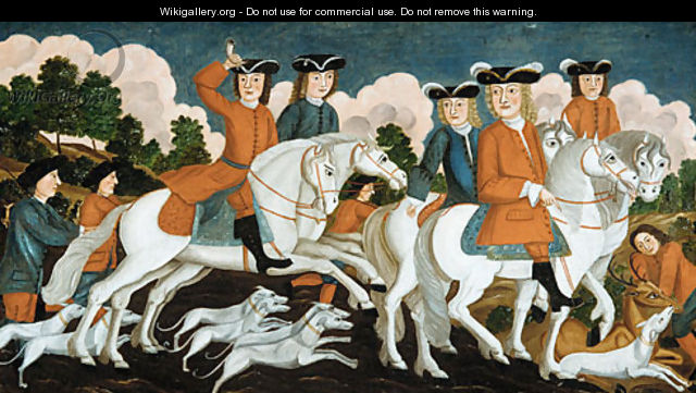 The Hunting Party New Jersey 1670 - Anonymous Artist