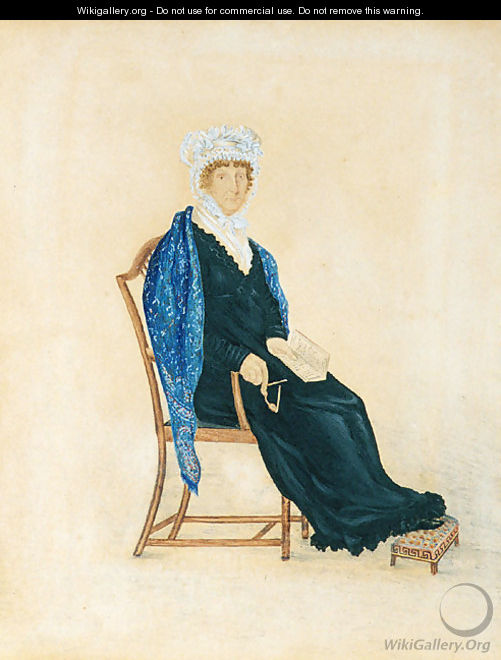 Portrait of Mrs. Crofts 1815 - Anonymous Artist