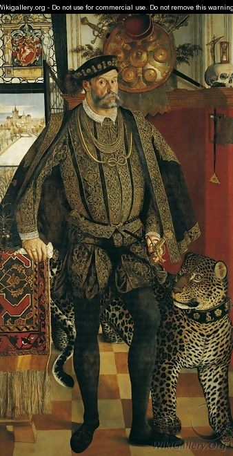 Portrait of Ladislaus von Fraunberg Count of Haag 1557 - Hans Muelich or Mielich