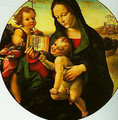 Madonna and child with the Young St John - Girolamo Del Pacchia
