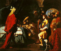 David Soothing Sauls Anguish with His Harp - Giovanni Battista Spinelli