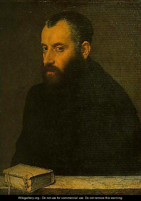 Portrait of a Gentleman with a Book - Giovanni Battista Moroni
