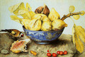 Chinese Cup with Figs Cherries and Goldfinch - Giovanna Garzoni