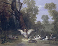 Ducks Resting in Sunshine 1753 - Jean-Baptiste Oudry