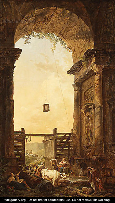 The Return of the Cattle - Hubert Robert